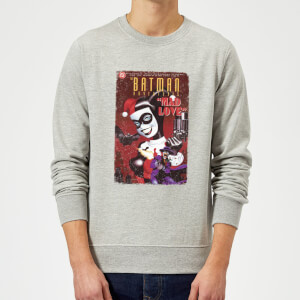 DC Comics Batman Harley Mad Love Sweatshirt - Grey