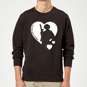 "Sudadera Star Wars Leia ""I'd Rather Kiss A Wookie"" - Hombre - Negro"