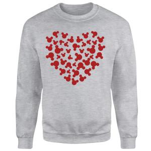 Disney Mickey Mouse Heart Silhouette Sweatshirt - Grey