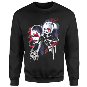 Sweat Homme Harley Quinn et le Joker (DC Comics) - Noir