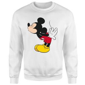 Disney Mickey Mouse Mickey Split Kiss Sweatshirt - White