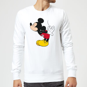 Disney Mickey Mouse Mickey Split Kiss Sweatshirt - White