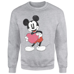 Disney Mickey Mouse Heart Gift Sweatshirt - Grey