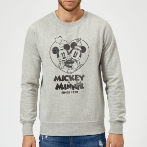 Disney Minnie Mickey Since 1928 Pullover - Grau