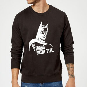 Sweat Homme The Strong Silent Type - Batman (DC Comics) - Noir