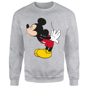 Disney Mickey Mouse Mickey Split Kiss Sweatshirt - Grey