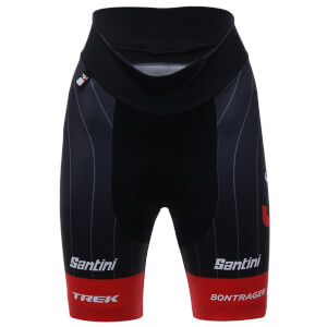 Santini Trek-Segafredo 18 Women's Prime Replica Shorts - Black/Red