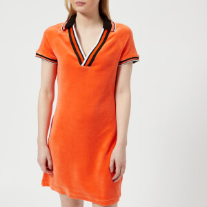 Juicy Couture Women's Stretch Velour Polo Dress - Tigerlilly