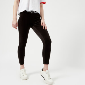 Juicy Couture Women's Juicy Jacquard Rib Stretch Velour Leggings - Black