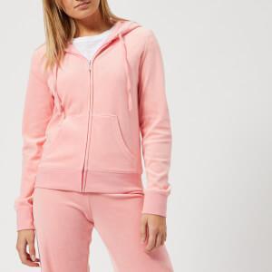 Juicy Couture Women's Track Velour Robertson Jacket - Sorbet Pink