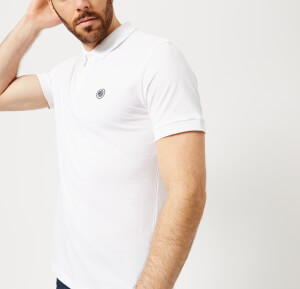 Pretty Green Men's Hartford Short Sleeve Polo Shirt - White/Navy