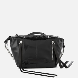 McQ Alexander McQueen Women's Mini Hobo Vinyl Cross Body Bag - Black