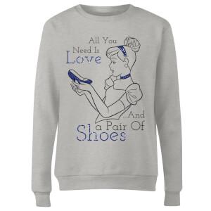 Disney Princess Cinderella All You Need Is Love Women's Sweatshirt - Grey