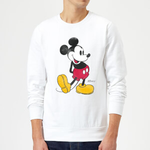 Sweat Homme Mickey Mouse Pose Classique (Disney) - Blanc