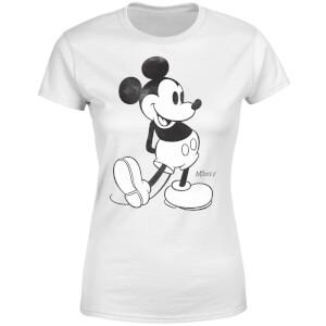 Disney Mickey Mouse Walking Women's T-Shirt - White