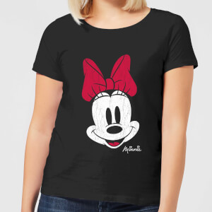 Camiseta Disney Mickey Mouse Minnie Cara - Mujer - Negro