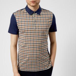 Aquascutum Men's Dillon CC Short Sleeve Polo Shirt - Vicuna