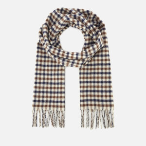 Aquascutum Men's Lambswool Club Check Scarf - Vicuna