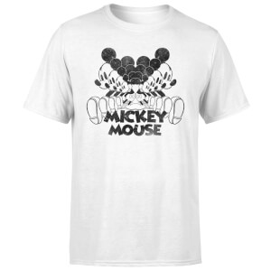 Disney Mickey Mouse Mirrored T-Shirt - White