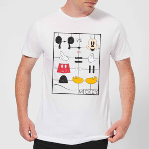 Disney Mickey Mouse Construction Kit T-Shirt - Weiß