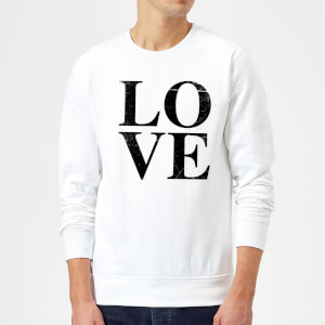 Love Textured Sweatshirt - White