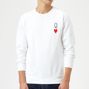 Queen Of Hearts Pullover - Weiß