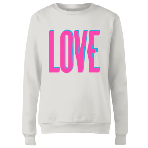 Sweat Femme Love Glitch - Blanc