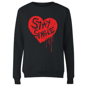 Sweat Femme Stay Single - Noir