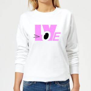 Love Wink Women's Sweatshirt - White