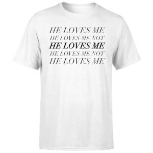 He Loves Me, He Loves Me Not T-Shirt - White