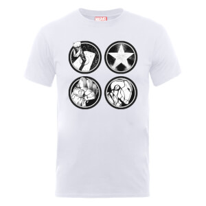 Marvel Avengers Assemble Main Logos T-Shirt - White
