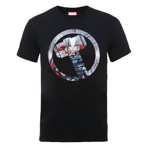 Marvel Avengers Assemble Thor Montage T-shirt - Zwart