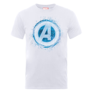 T-Shirt Marvel Avengers Assemble Glowing Logo - Bianco