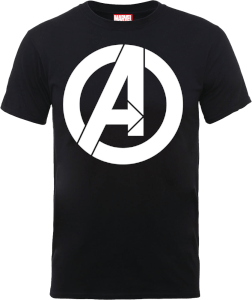 Marvel Avengers Simple Logo T-Shirt - Schwarz