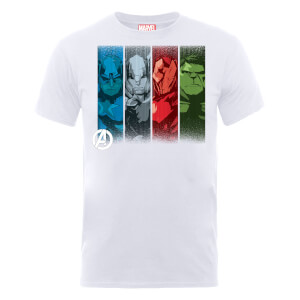 Marvel Avengers Assemble Team Poses T-shirt - Wit