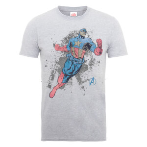 Marvel Avengers Assemble Captain America T-Shirt - Grey