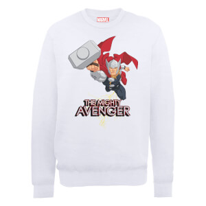 Marvel Avengers Assemble The Mighty Thor Sweatshirt - White