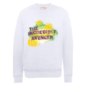 Marvel Avengers Hulk The Incredible Avenger Sweatshirt - White