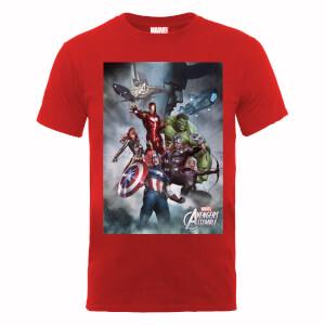 T-Shirt Homme Marvel Avengers - Team Montage - Rouge