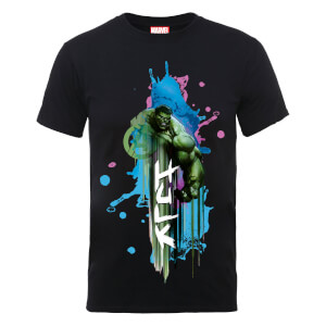 Marvel Avengers Assemble Hulk Art Burst T-Shirt - Black