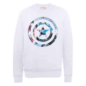 Marvel Avengers Assemble Captain America Sweatshirt - White