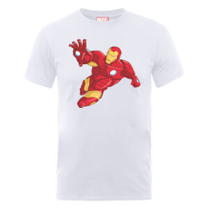 Marvel Avengers Assemble Armoured Iron Man T-Shirt - White