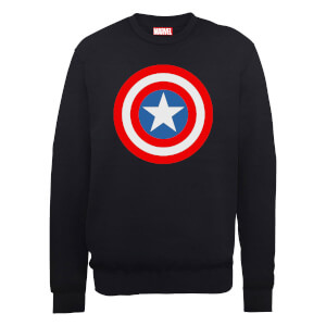 Sweat Homme Marvel Avengers Assemble - Captain America Simple Bouclier - Noir