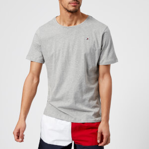 Tommy Hilfiger Men's Flag Logo T-Shirt - Grey Heather