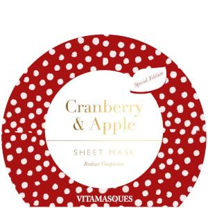 Vitamasques Cranberry and Apple Sheet Mask -kasvonaamio 20ml