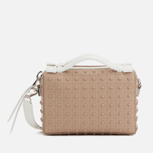 Tod's Women's Contrast Stud Gommini Bag - Hazel/White