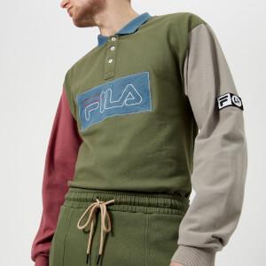 Fila Men's Liam Hodges X Fila Colour Blocked Long Sleeve Polo Shirt - 4 Leaf Clover