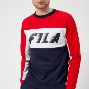 FILA Men's Layton Colour Block Sweater - Navy/Red/White