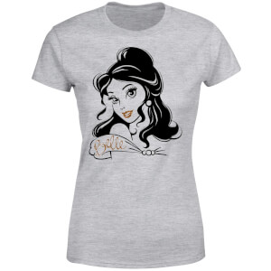 Disney Beauty And The Beast Princess Belle Sparkle Women's T-Shirt - Grey