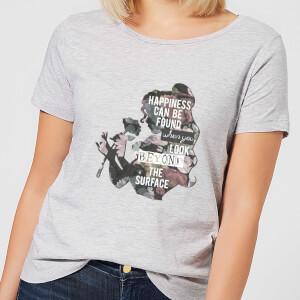 Disney Die Schöne und das Biest Happiness Damen T-Shirt - Grau